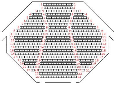 План зала Новгородского театра